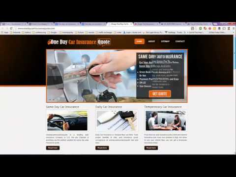 One Day Car Insurance USA and UK Comparison - YouTube