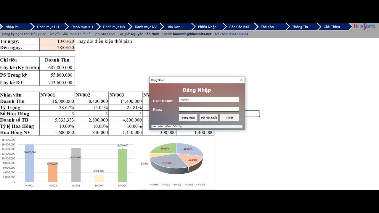 File quản lý nhập xuất tồn đơn giản, miễn phí, không cần cài đặt, tải về là chạy