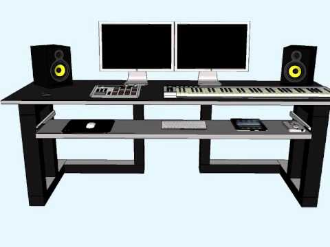 home studio desk design. New Home Studio Desk  YouTube