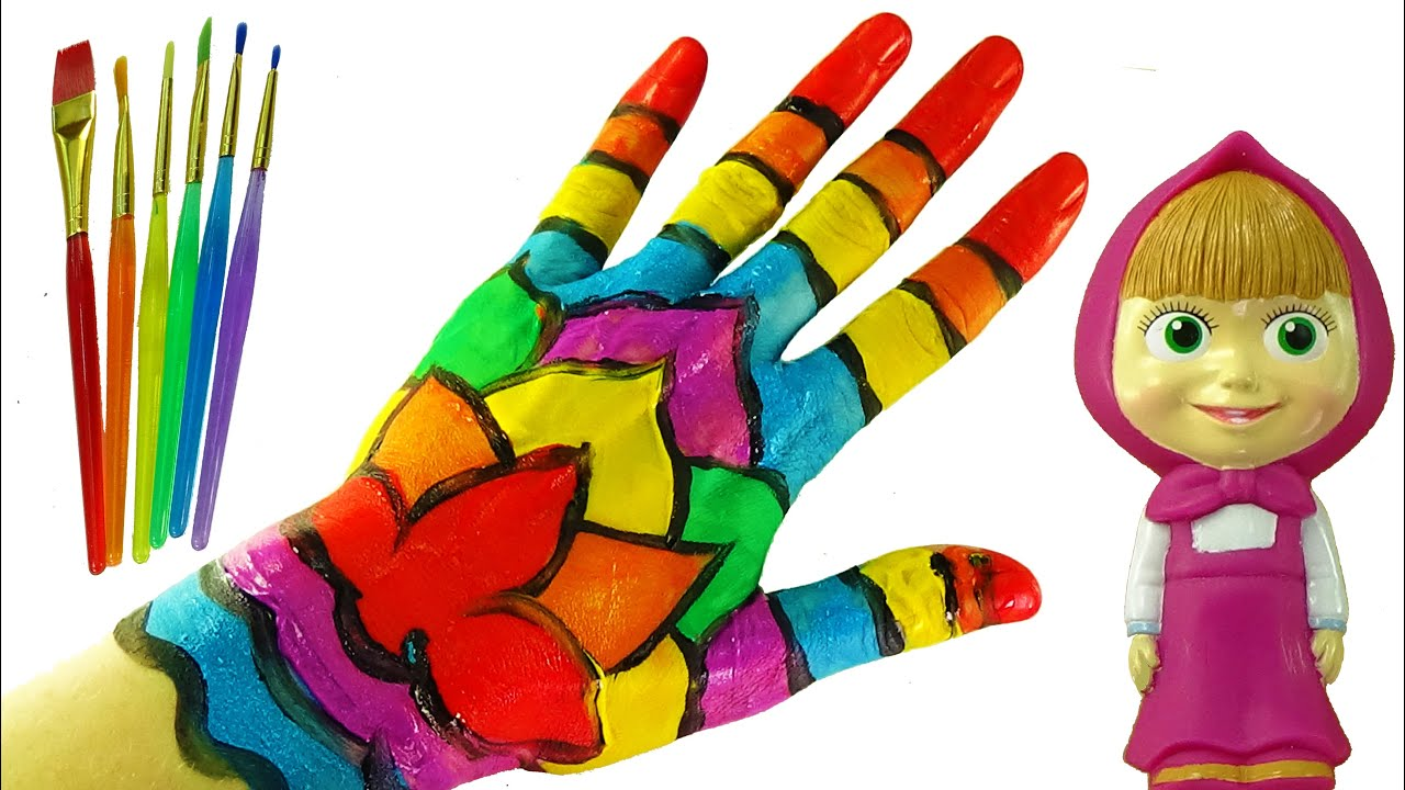 body painting learning colors video for children color hand colours for kids to learn - Children Color