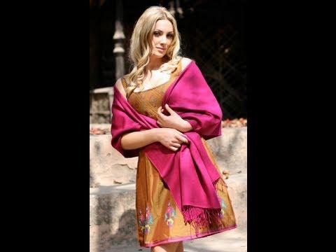 Como usar una pashmina correctamente youtube for Boda en jardin como vestir