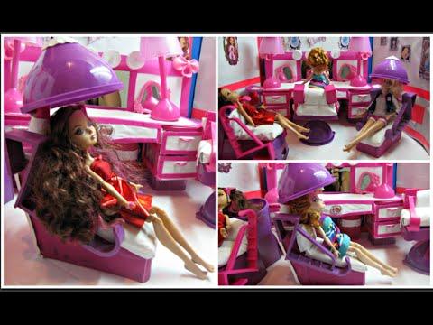 DIY a Doll hair Salon - Hair Dryer Chair - Dollar Store DIY Craft