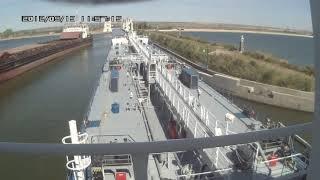 Танкер Майя  проходит шлюз №10 Волго-Донского Судоходного Канала
