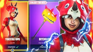 New TRICERA OPS Skins Bundle! New Fortnite Battle Royale Free Skins Update! (New Fortnite Skins)