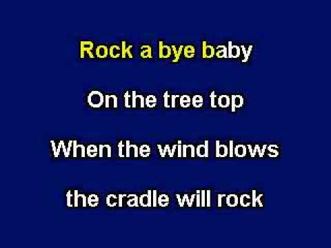 Rock a Bye Baby, Karaoke video with lyrics, with demo singer