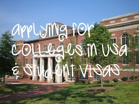 How To: Applying for Colleges in America & F-1 Student Visas! (for International Students)