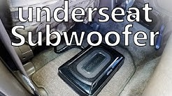 underseat subwoofer Kenwood KSC-SW11 (review and sound test)