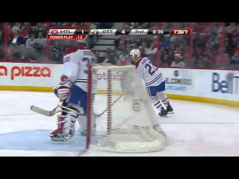 Craig Anderson Amazing Save (Montreal Canadiens vs Ottawa Senators, Jan 30, 2013) NHL HD