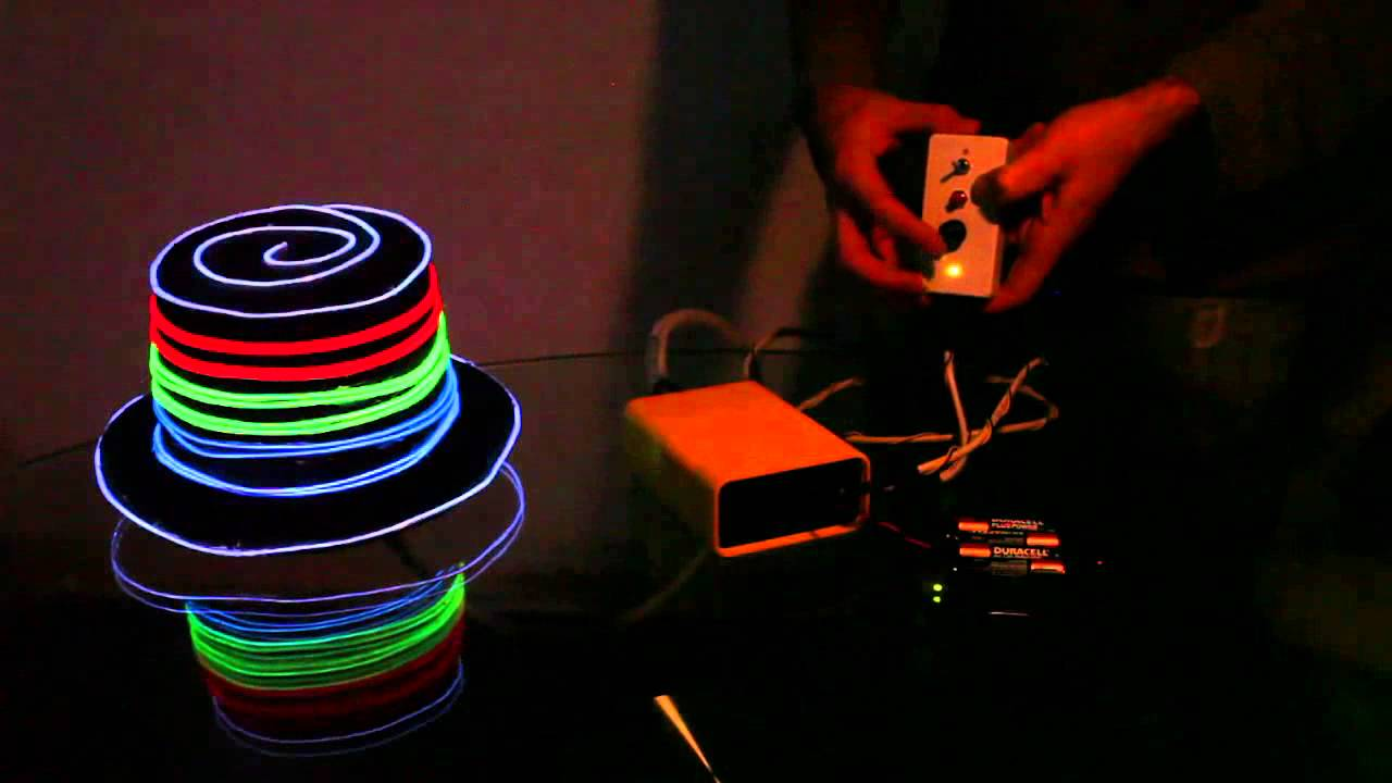 Remote Controlled EL Wire Hat: Sequenced and Sound Activated ...