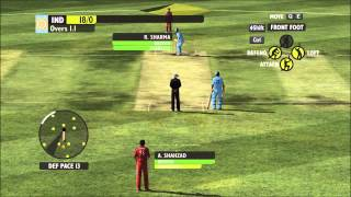 India vs England 5 Over Match Gameplay Ashes 2009