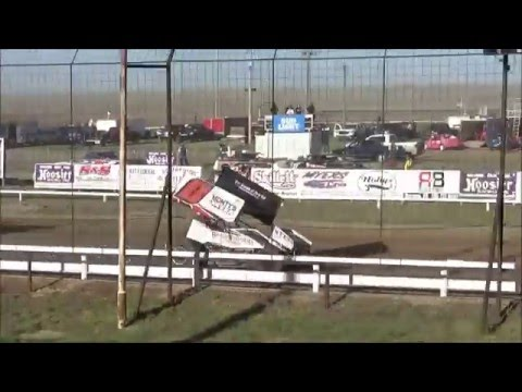 Steven Richardson heat race / 4-24-2016 / URSS Sprint Cars / Wakeeney Speedway