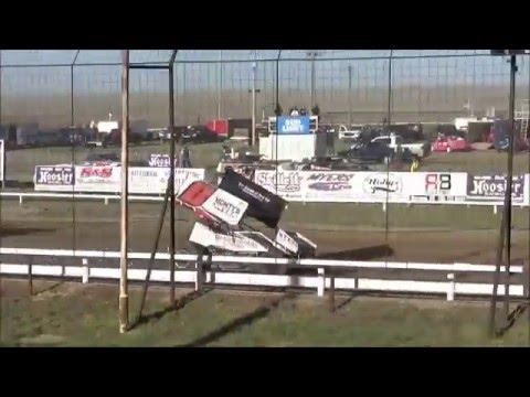 Steven Richardson heat race / 4-24-2016 / URSS Sprint Cars / Wakeeney Speedway