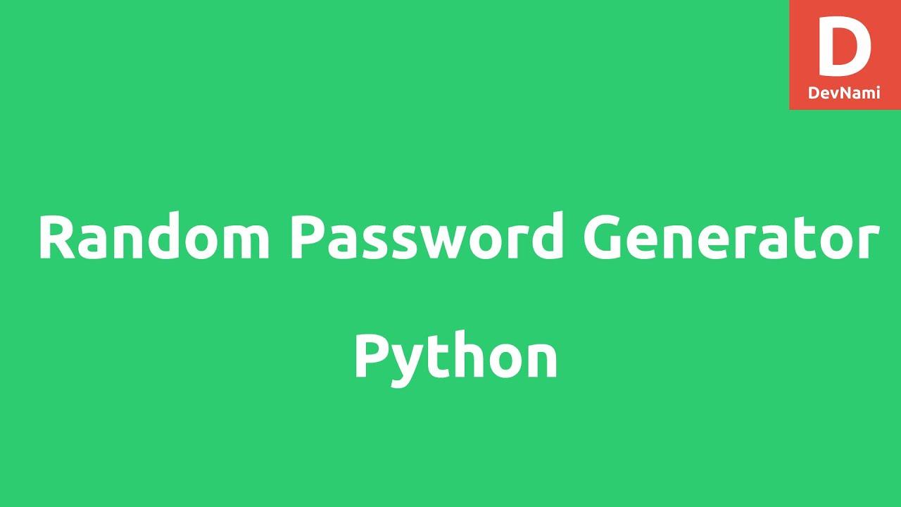 Random Password Generator in Python