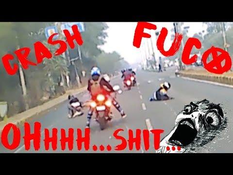OH Shit Crash Suzuki GIXXER and Pulsar NS200 Bike | RIDE FOR A CAUSE | REPUBLIC DAY Ride