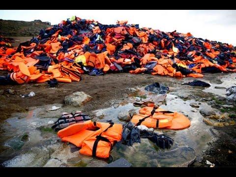 Video fra Lesbos: Hver redningsvest har en historie