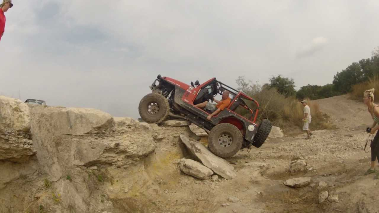badass jeep rubicon tj tries to climb up an impossible ledge - youtube