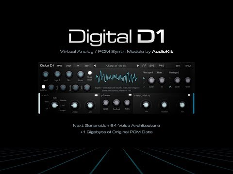 DIGITAL D1 Virtual Analog PCM Synth Module by AudioKit - Demo for the iPad