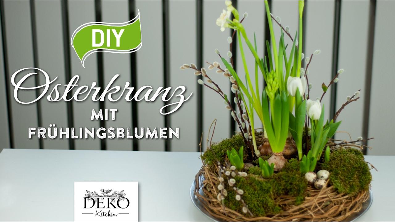 diy h bscher osterkranz mit fr hlingspflanzen how to deko kitchen youtube. Black Bedroom Furniture Sets. Home Design Ideas