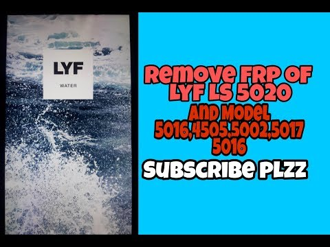 FRP LOCK REMOVE LYF WATER 10 LS 5020 IN HINDI WITHOUTH OTG AND PC -  Смотреть видео