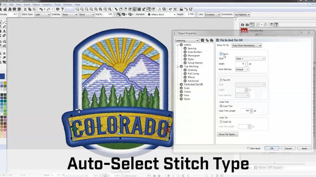 Melco Design Shop V10 Digitizing Software Youtube
