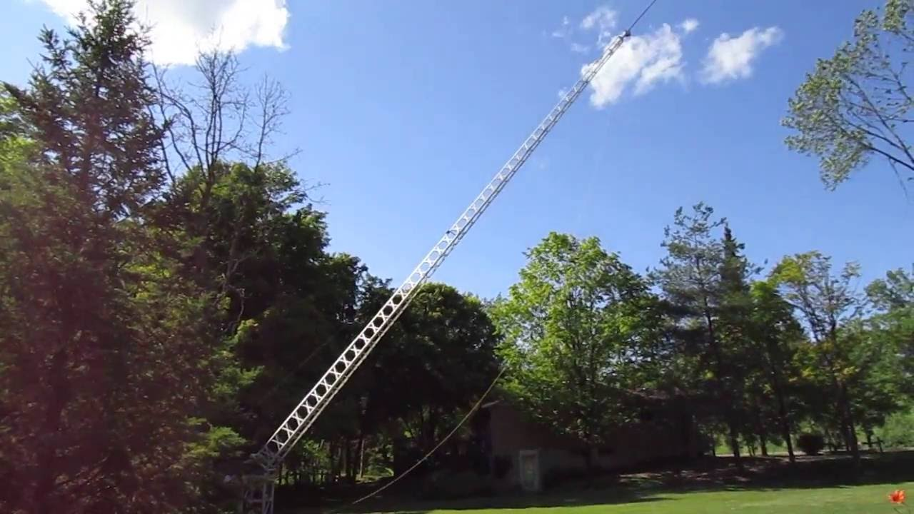 How I Raised My Tv Antenna Tower With A Winch And Frame