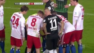 Video Gol Pertandingan Augsburg vs Hamburger SV