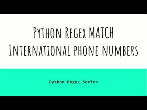 Python Regex Match International Phone Numbers