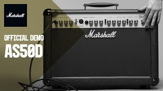 Gordon Giltrap demos the AS50D Marshall Amp
