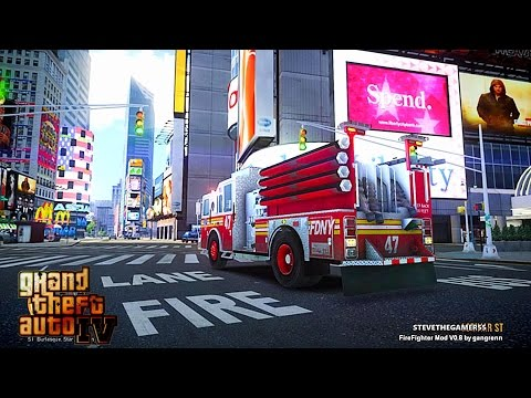 Grand Theft Auto IV - FDLC/FDNY - Day 36 with the fire department! (ENGINE 47) BUSY SHIFT