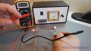 Измерение напряжения и силы тока мультиметром