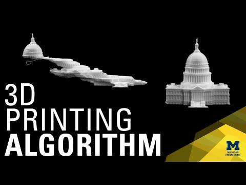 Algorithms for faster 3-D printing