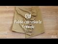 DIY - Cómo hacer una falda con volante fruncido | MANNEKEN