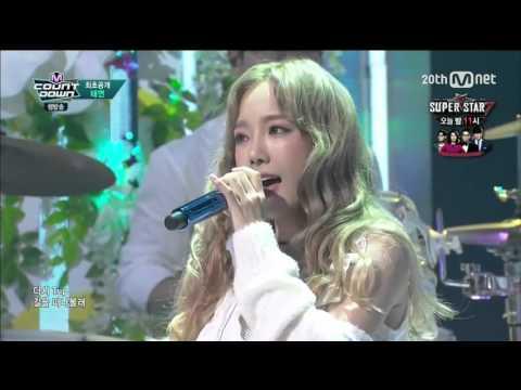 151008 Taeyeon 태연  I feat. Verbal Jint Live Mnet M!Countdown