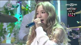 Cover images 151008 Taeyeon 태연 _I feat. Verbal Jint Live Mnet M!Countdown