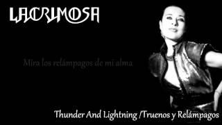 Lacrimosa - Thunder And Lightning [Letra en Español]