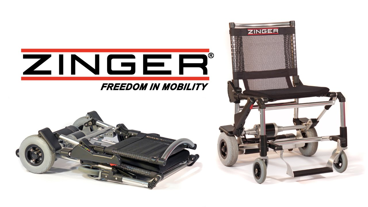 Zinger folding mobility chair youtube for Mobility chair