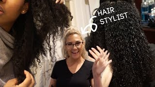 Come To The Hair Salon With Me - Full Olaplex Treatment on Natural Hair
