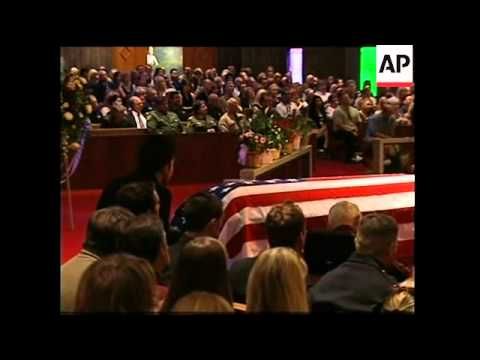 Funeral service for second of three brothers to die in Iraq