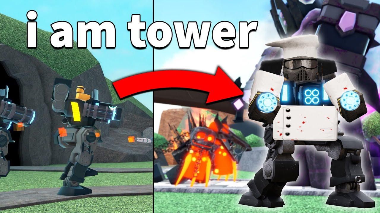 i pretended to be a TOWER in TDS   ROBLOX