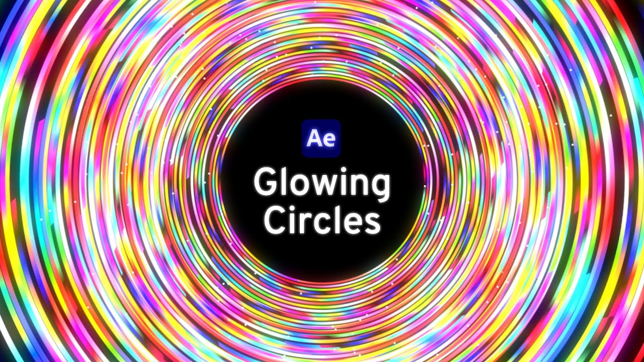 Glowing circles After Effects tutorial
