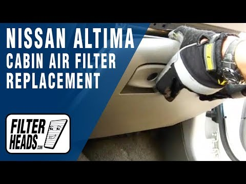how to replace cabin air filter nissan altima -