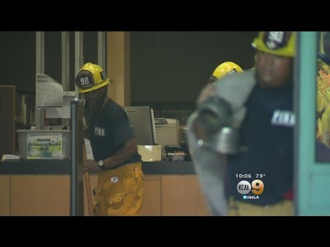 Broken Water Pipe Floods Mid-Valley Regional Public Library In North Hills