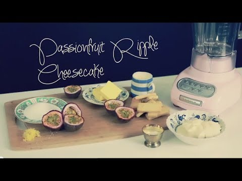 Passionfruit Ripple Cheesecake Recipe with the KitchenAid Artisan Blender