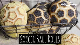 Soccer Ball Bread Rolls Easy Recipe Using Bread Stamps