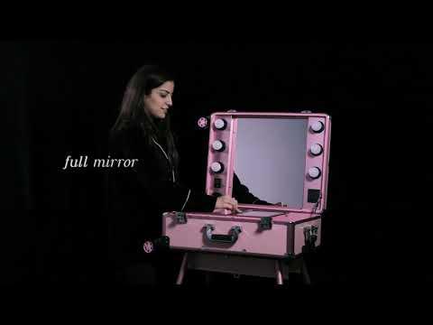 Queen's Vanity | Pro Studio Artist Makeup Train Case with Lights