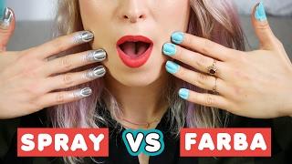 ♦ Test: lakier w sprayu VS farba! ♦ Agnieszka Grzelak Beauty