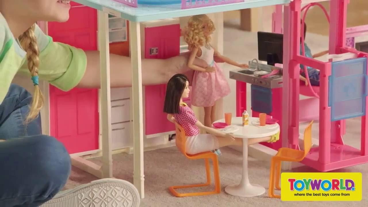 Toyworld Nz Barbie Townhouse Youtube