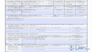 Apprendre à Remplir le DD forme de 200 de la Responsabilité Financière de l'Enquête de la Perte de Propriété