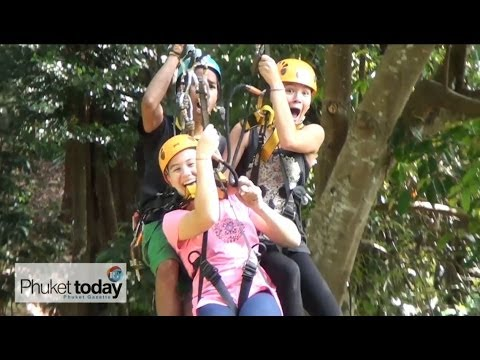 Kids vs Phuket's Flying Hanuman rainforest adventure