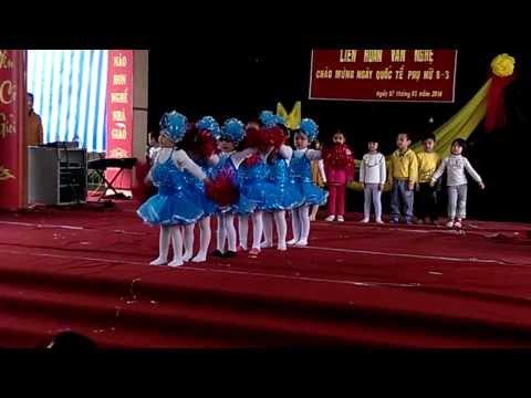 tiết mục văn nghệ mừng 8/3 của các bé trường mầm non LIÊN NINH - HN